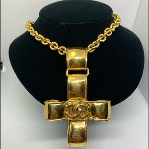Chanel Large Cross Necklace.